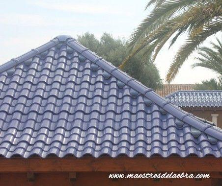 Tejados y cubiertas de teja mixta esmaltada